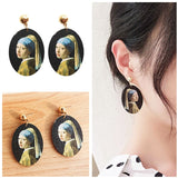 Girl With a Pearl Earring & Starry Night Inspired Earrings - Art Store