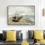 Van Gogh 'Fishing Boats On The Beach' Wall Art - Art Store