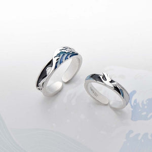 Ocean surf Couple Rings - Art Store