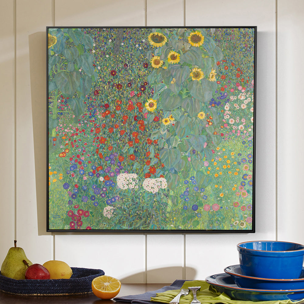 Gustav Klimt 'Farm Garden with Sunflowers' Wall Art - Art Store