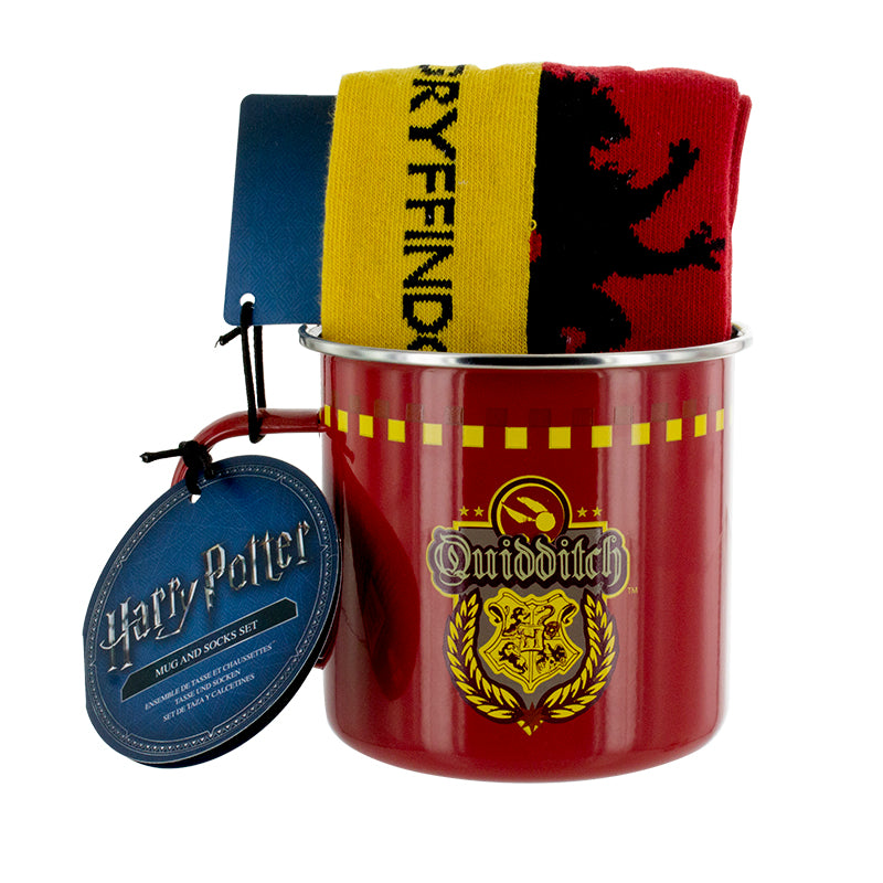 Gryffindor Quidditch Tin Mug and Socks