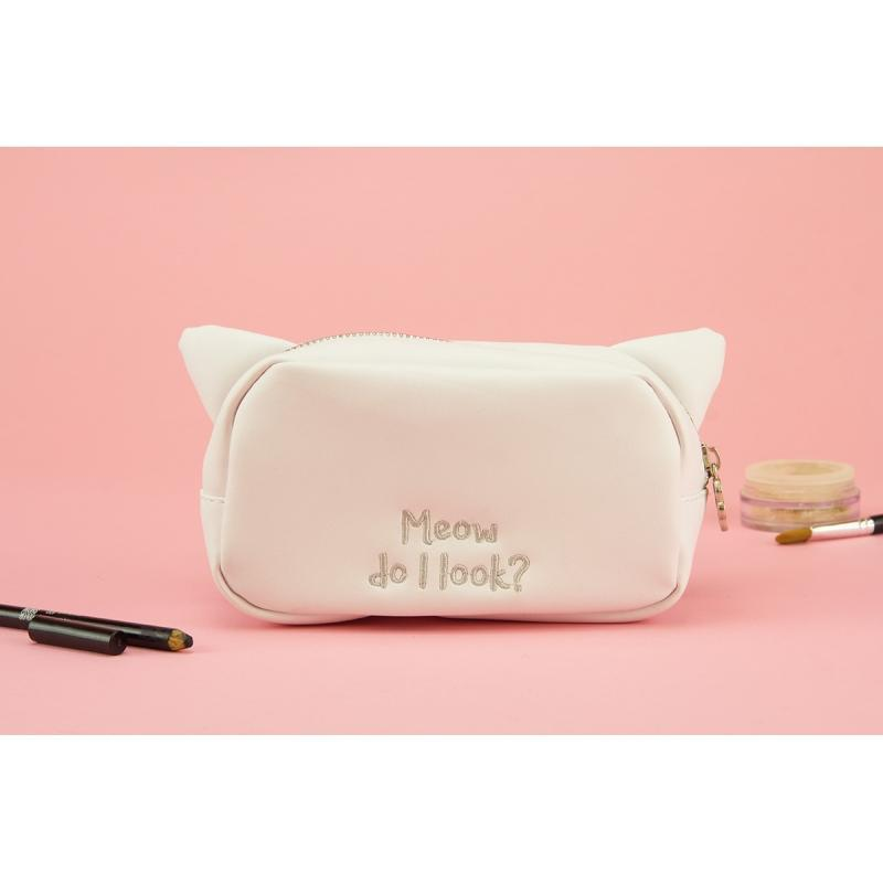 Meow Do I Look Adorable Makeup Bag