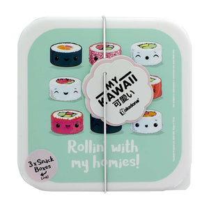 My Kawaii Sushi Snack Boxes Set of 3 Boxes