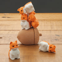 stacking squirrels on acorn