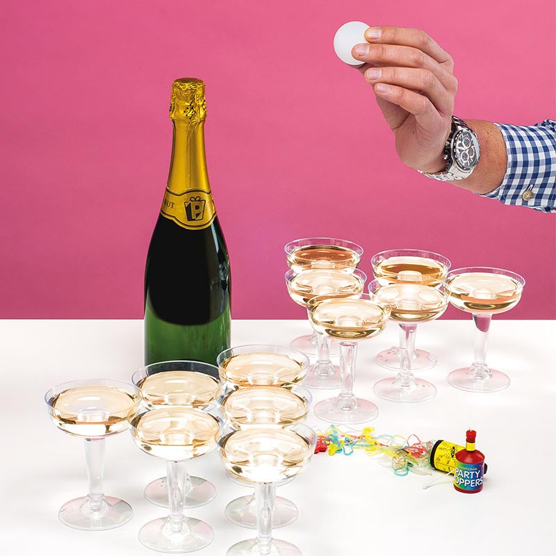 Cham-Pong A Champagne Pong Set