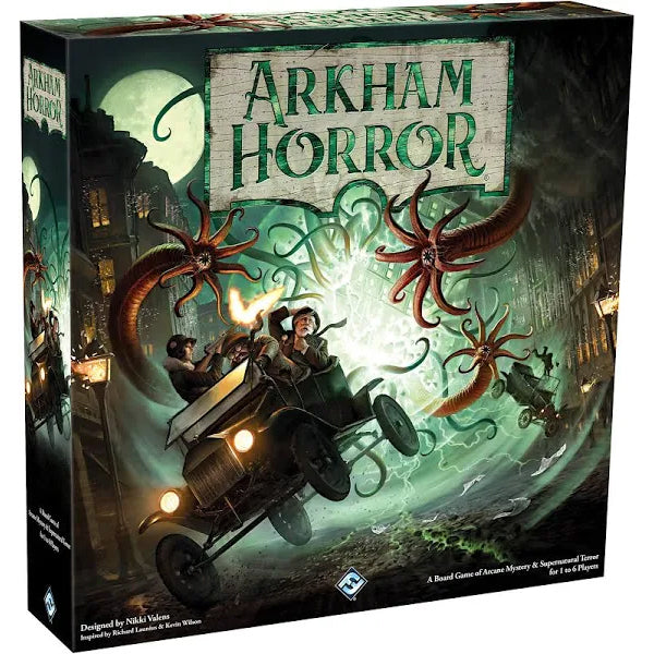 Arkham Horror Game Front of Box