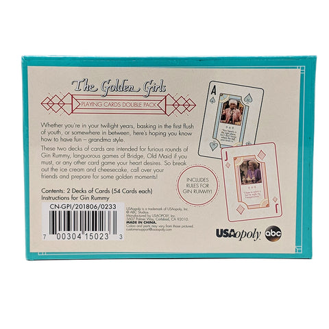 Golden Girls Playing Cards Back