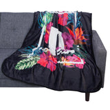 PlayStation Floral Print Plush Throw