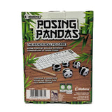 back of posing pandas box