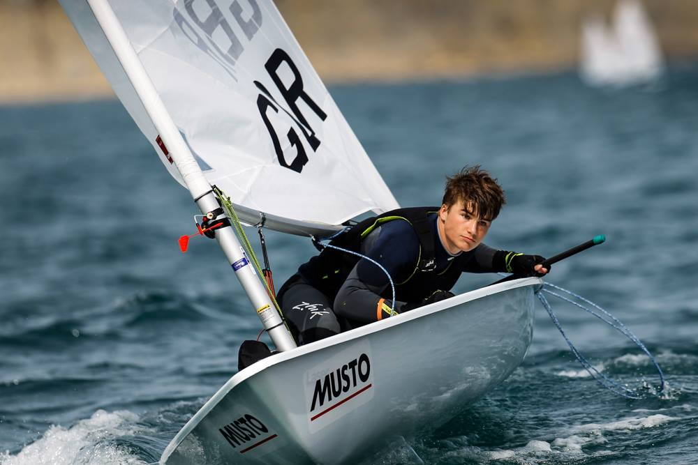 Laser Radial Sail - Sponsored Sailor James Foster sails his Laser Radial