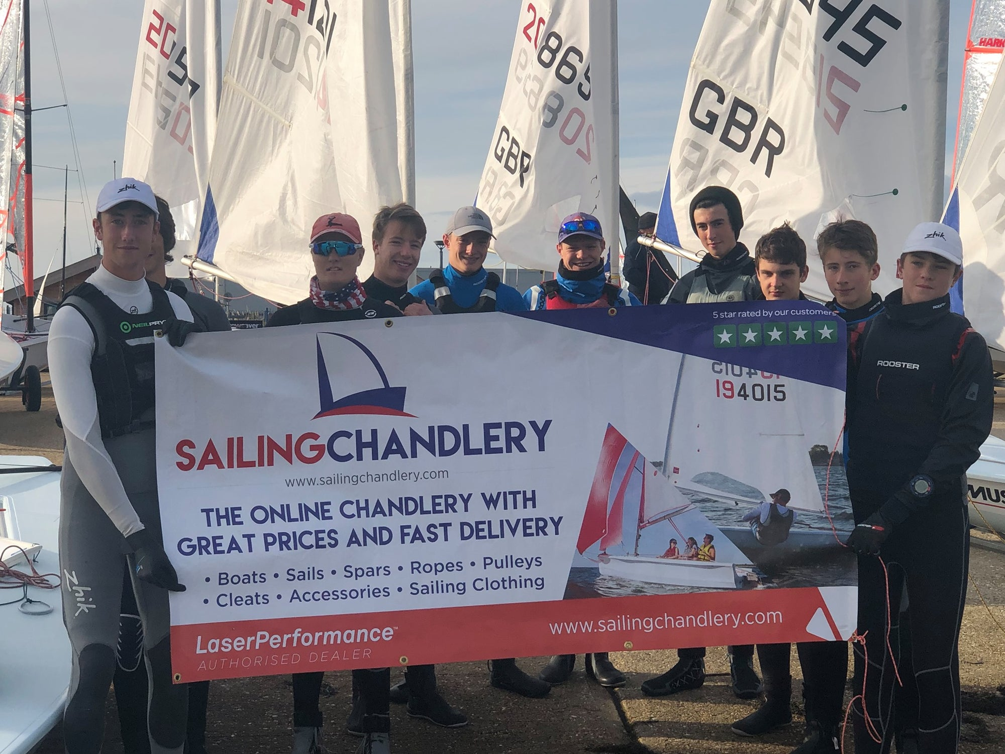 UK Laser Sailing Class Association Under 21 Training - Sponsored by Sailing Chandlery