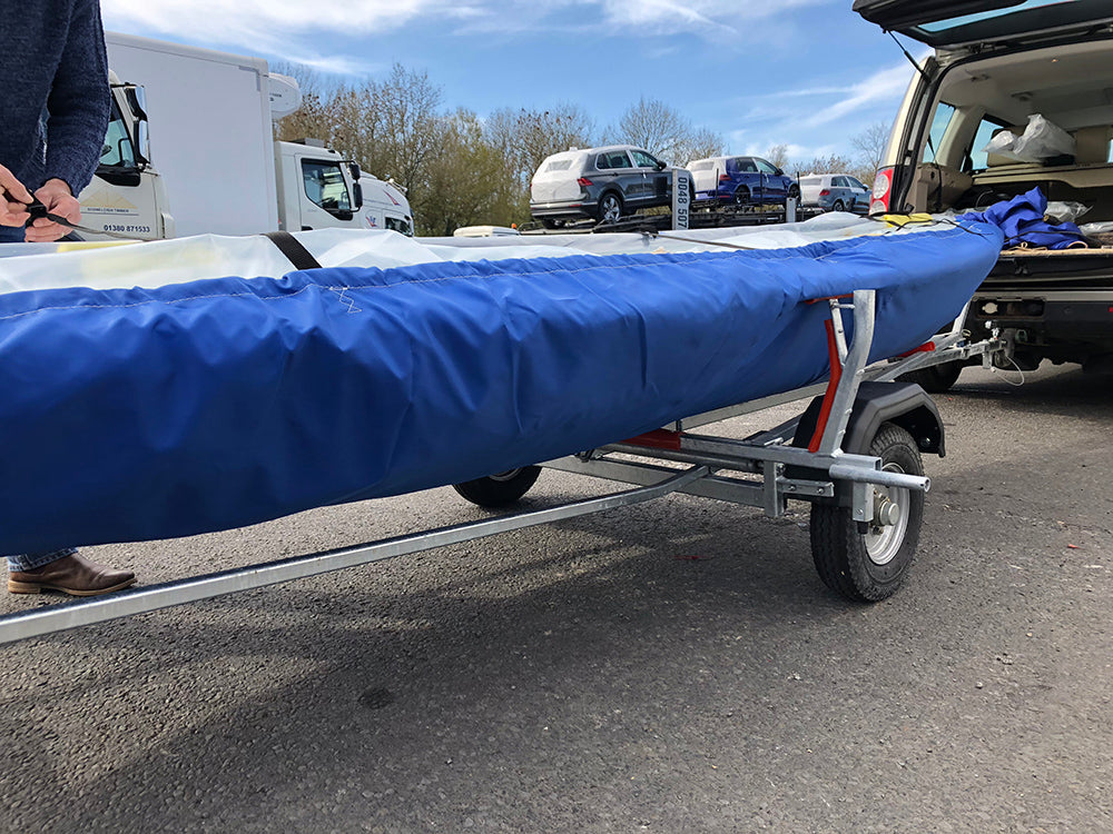Laser undercover fitted to a Laser sailing dinghy