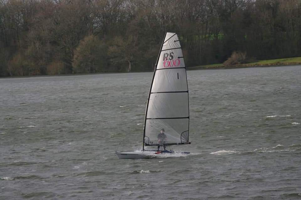 George Smith sailing his RS600