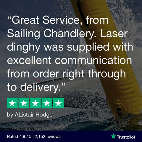Sailing Chandlery 5 Star Review - New Laser Sailing Dinghy