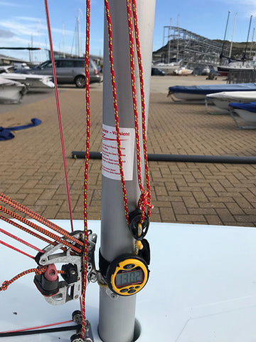 Laser Sailing - Laser 8:1 Downhaul System - Bottom of mast