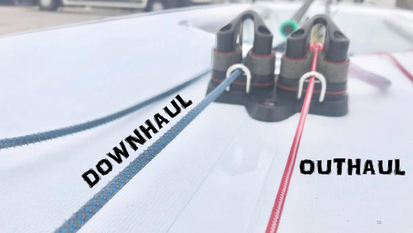 Laser tips - outhaul and downhaul