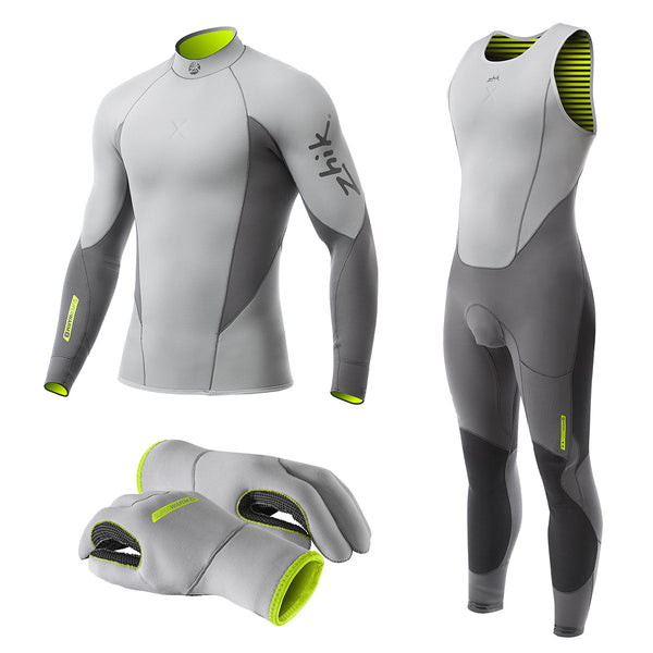 Zhik Superwarm X Wetsuit Range - Skiff Suit, Top and Gloves