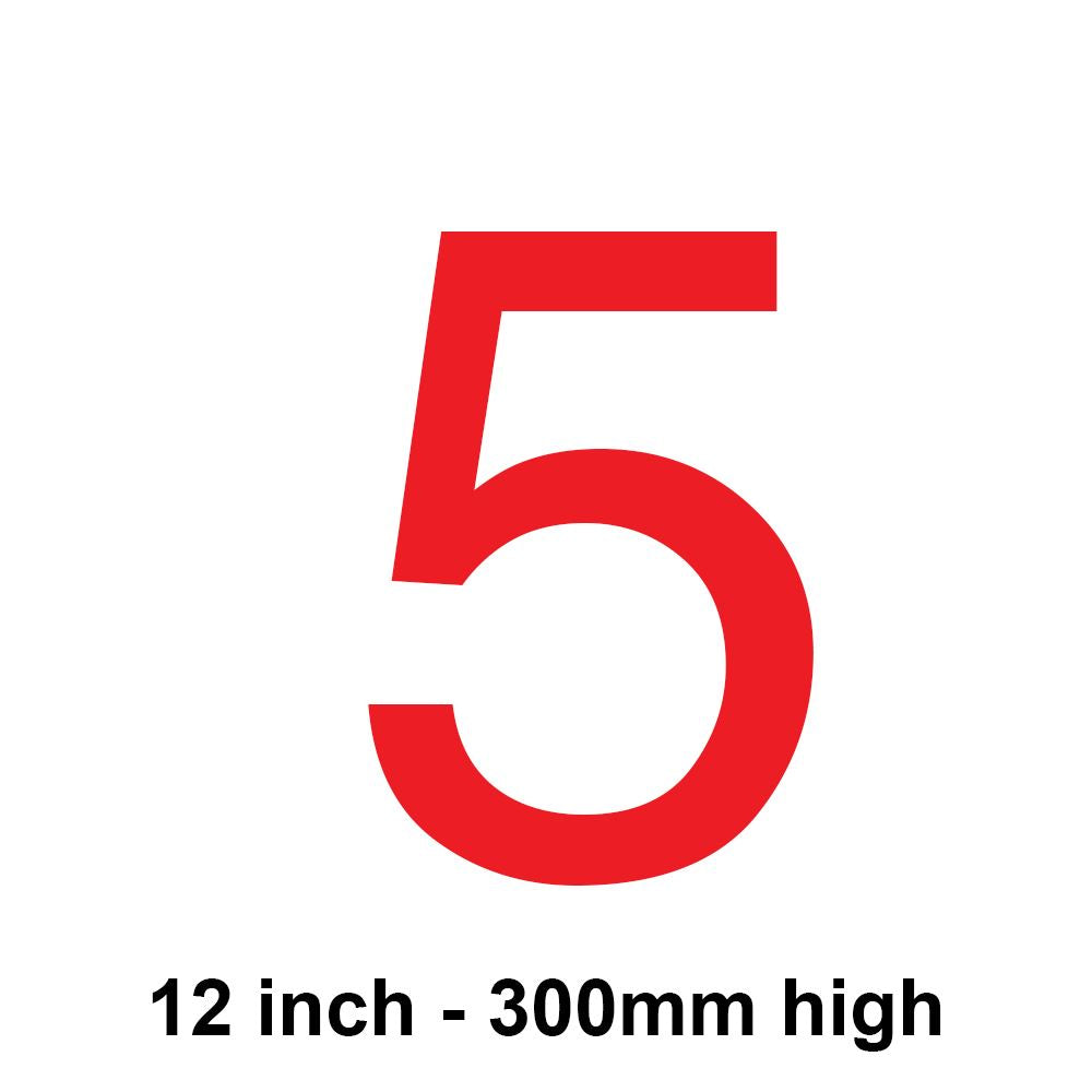 5 - Red 300mm Sail Number