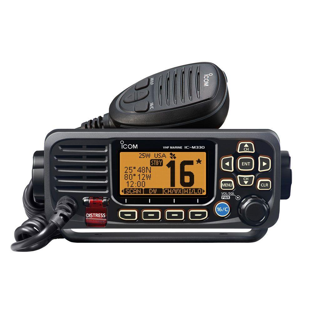 iCom M330GE VHF Radio DSC Internal and External GPS Antenna