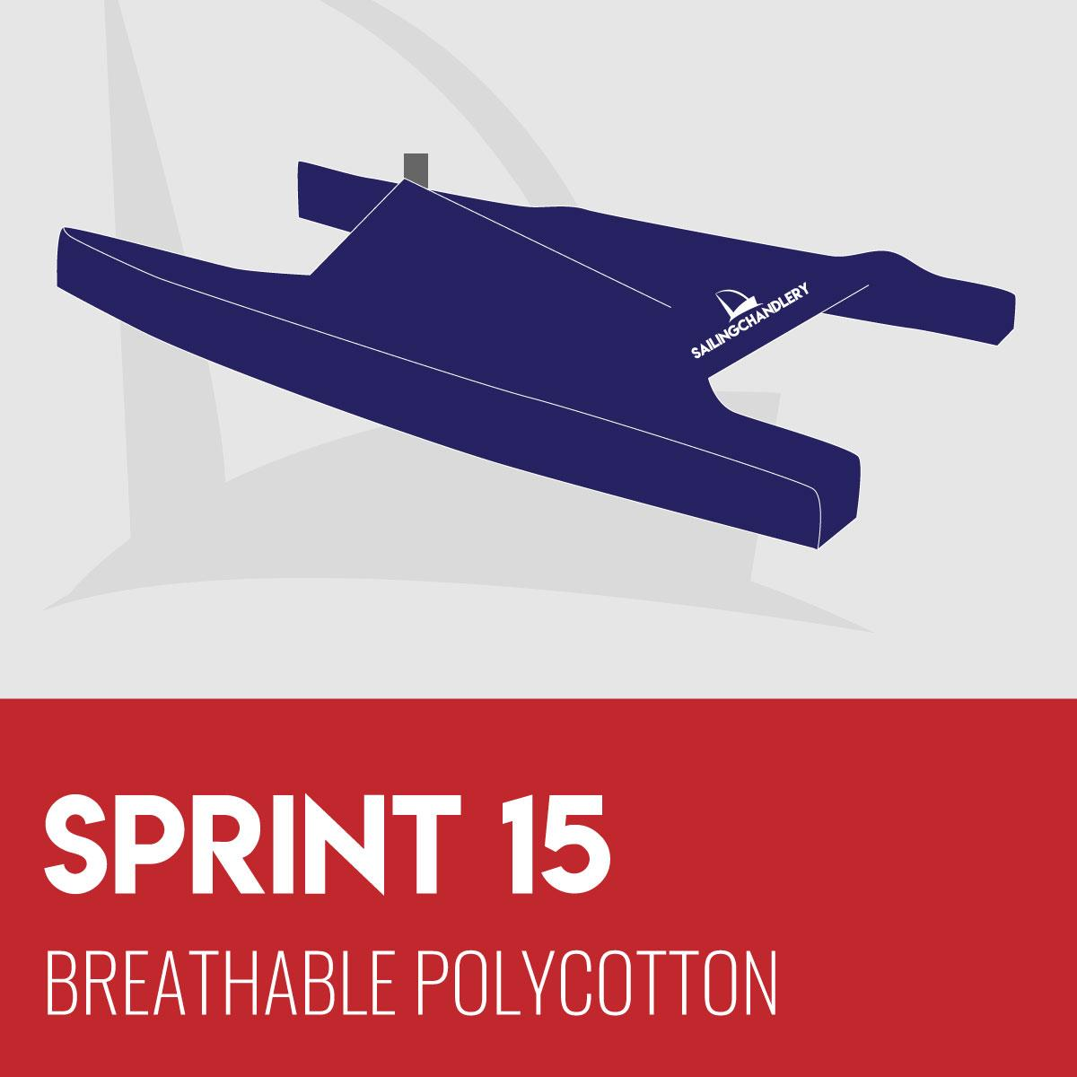 Sprint 15 Boat Cover - Breathable PVC Polycotton
