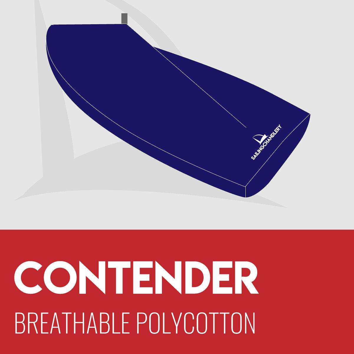Contender Boat Cover - Boom Up - Breathable Polycotton