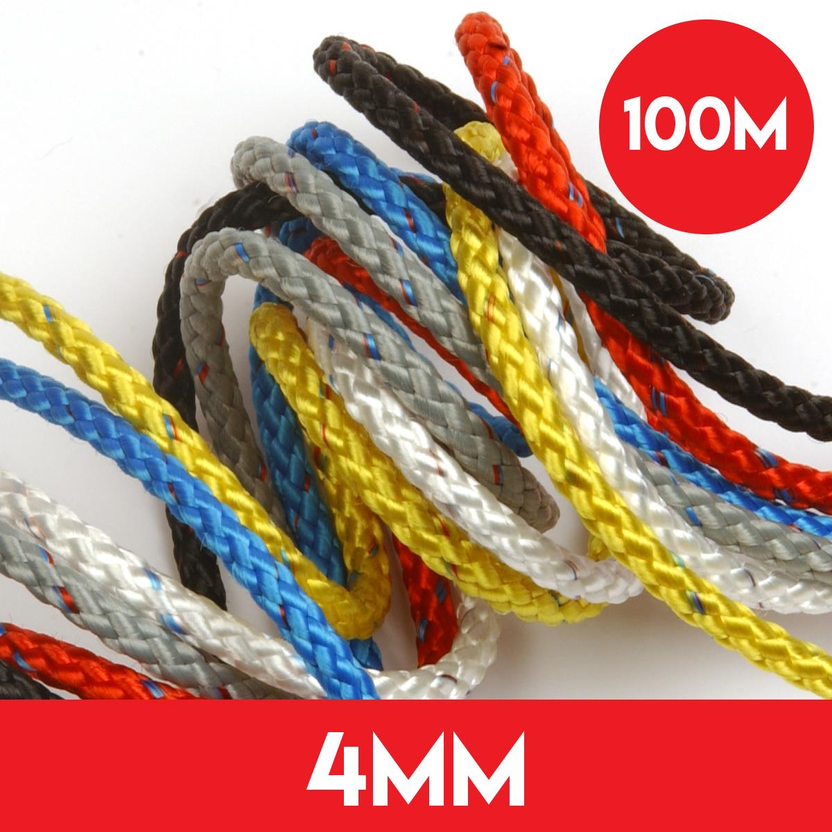 100m of 4mm 8 Plait Pre Stretched Rope