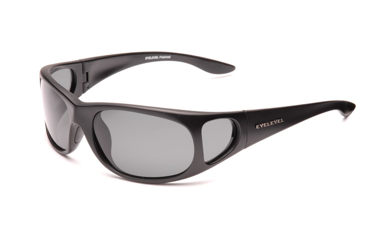 Stalker Sunglasses with Side Shield - Grey Lens