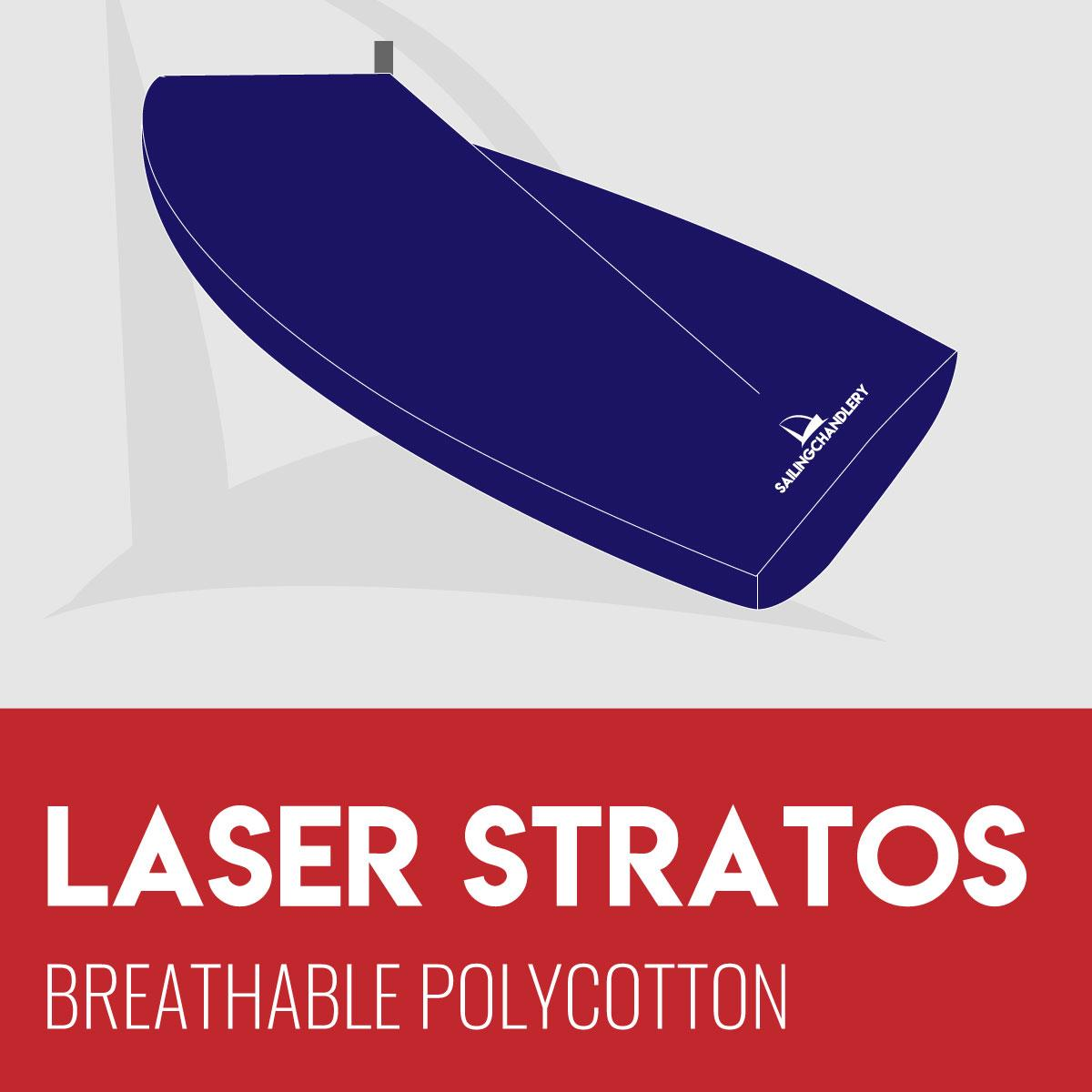 Laser Stratos Boat Cover - Boom Up - Breathable Polycotton