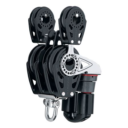 Harken 57mm Carbo Ratchet Block with Swivel and 40mm Side Carbos