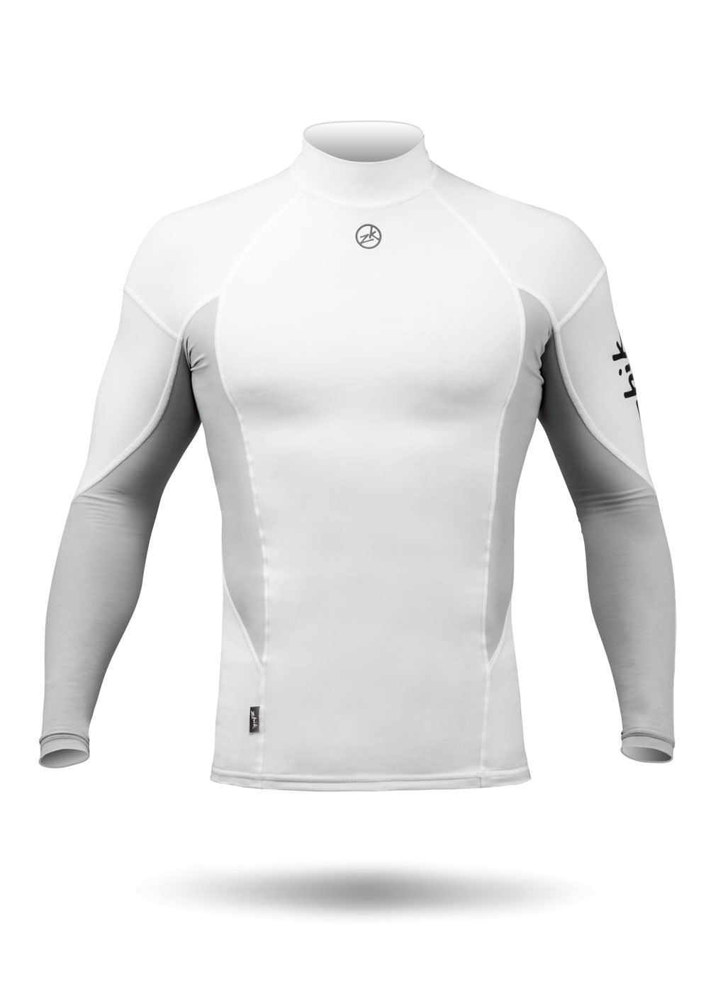 Mens Zhik Long Sleeve Spandex Rash Vest Top - White