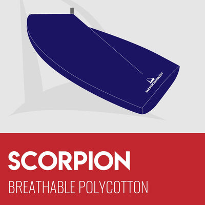 Scorpion Boat Cover - Boom Up - Breathable Polycotton