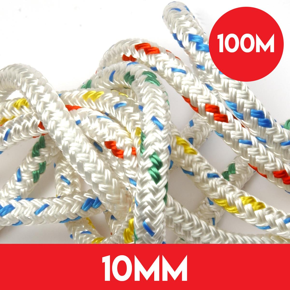 100m Reel of 10mm Polyester Braid on Braid Rope by Kingfisher