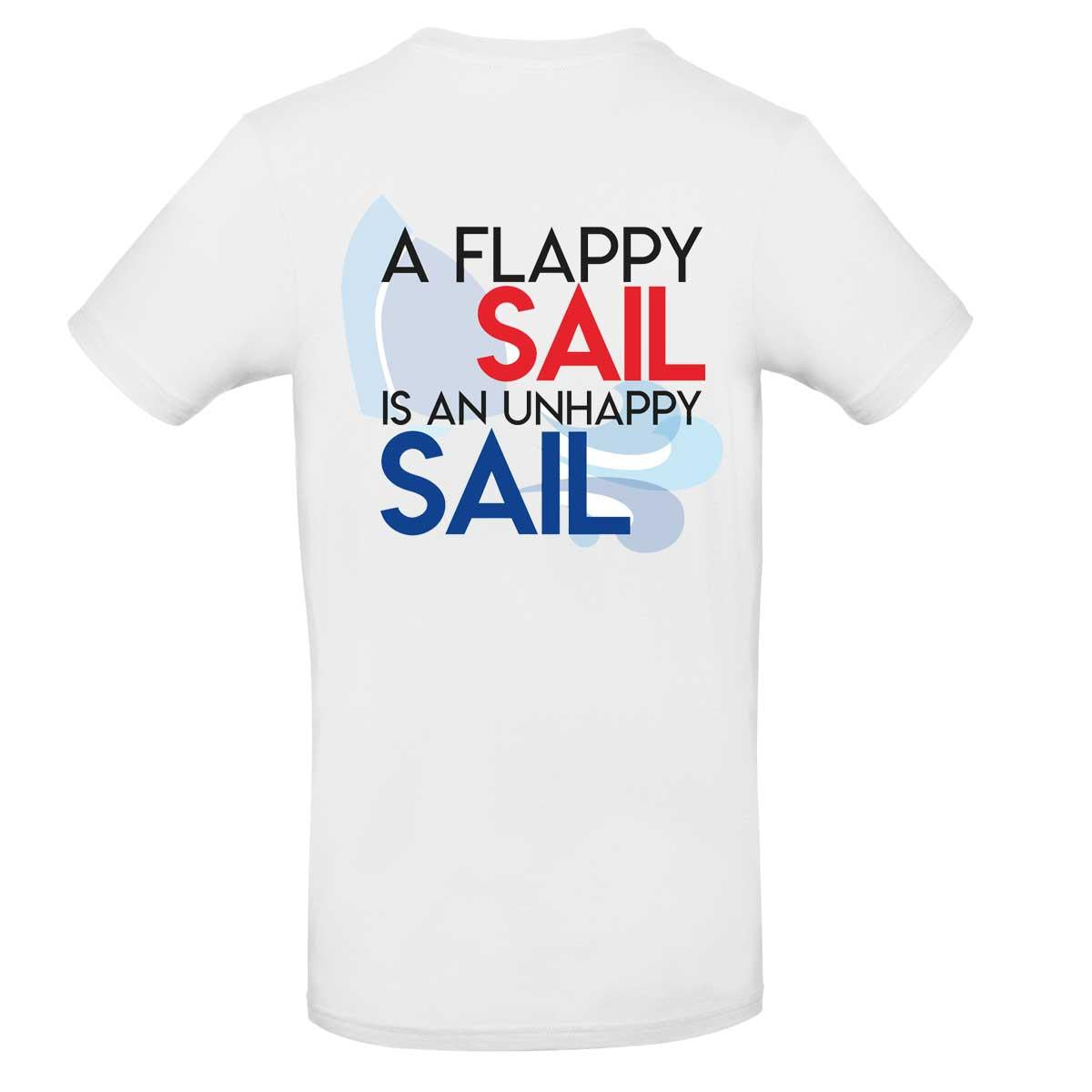 Mens T-Shirt - A Flappy Sail Is An Unhappy Sail