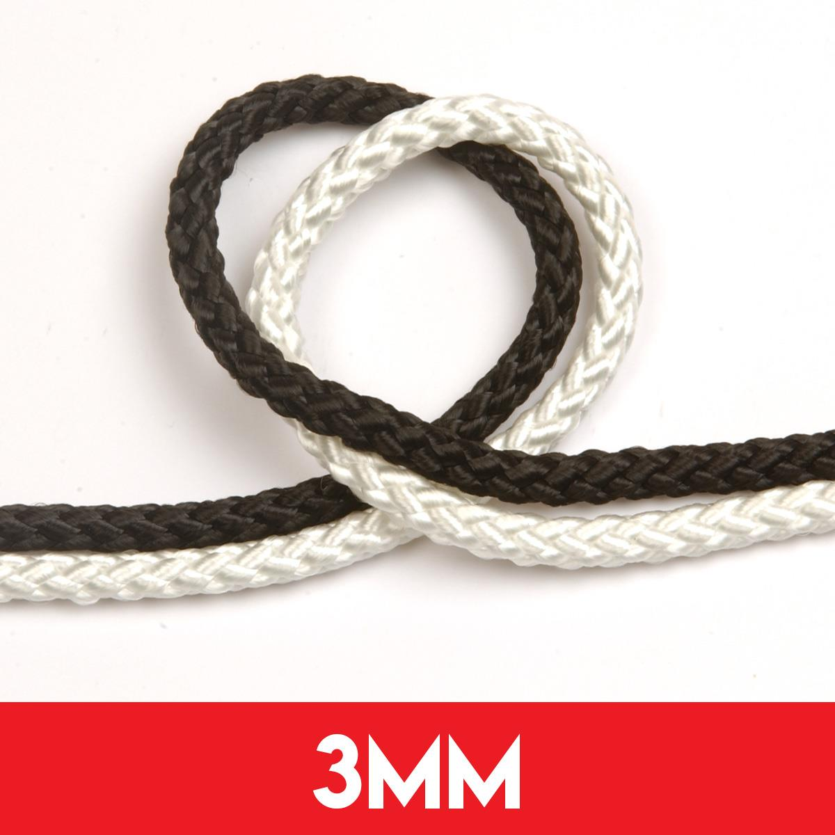 3mm 8 Plait Standard Polyester Rope