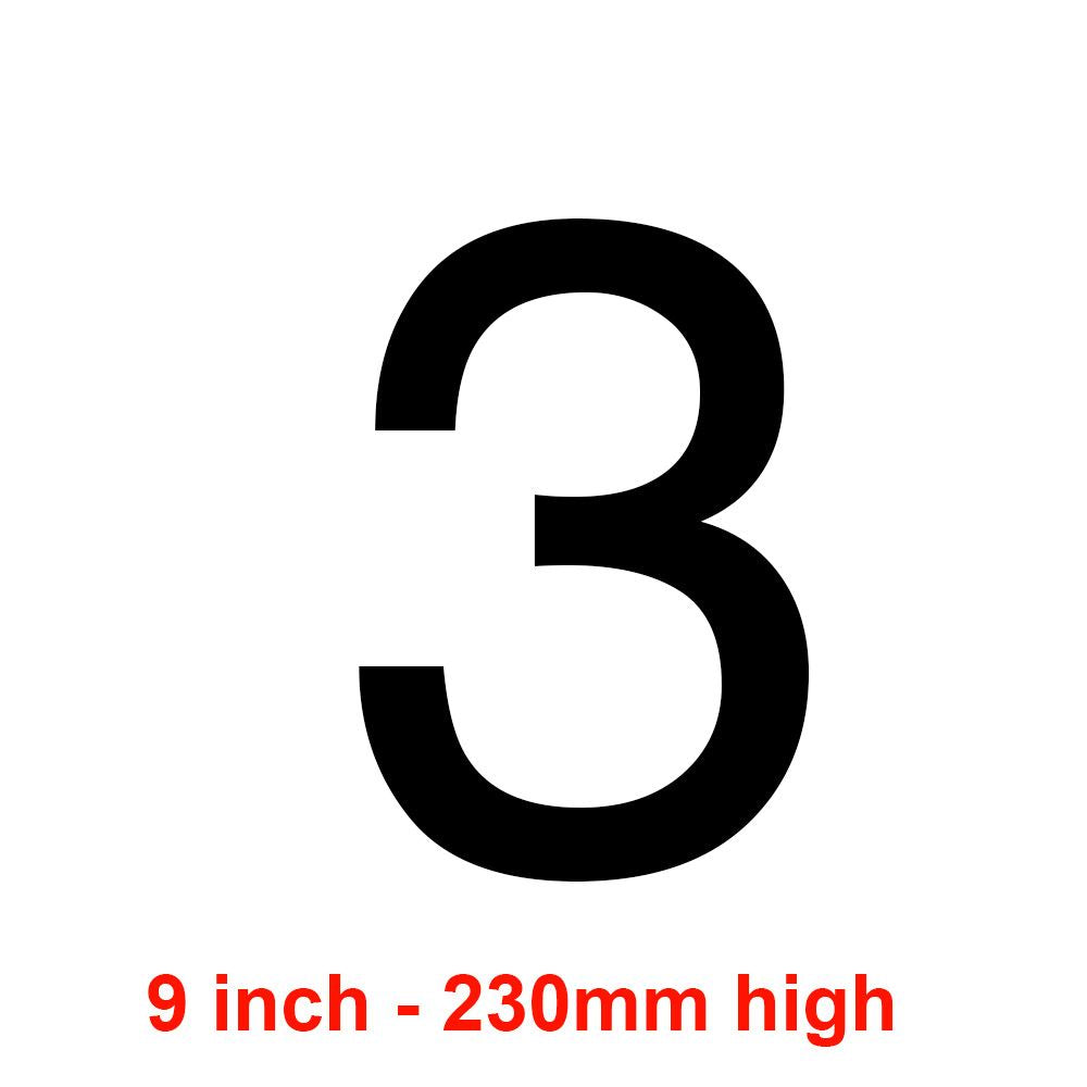 3 - Black 230mm Sail Number