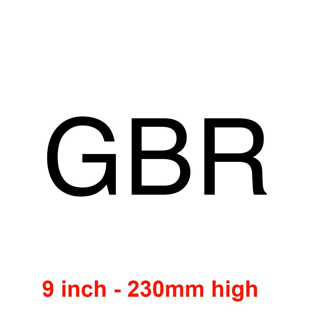 GBR - Black 230mm Sail Letters