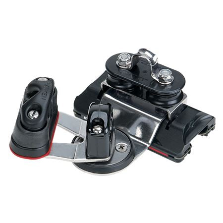 Harken 22mm High-Load Traveller Car with Pivoting Sheaves and Swivel Cam