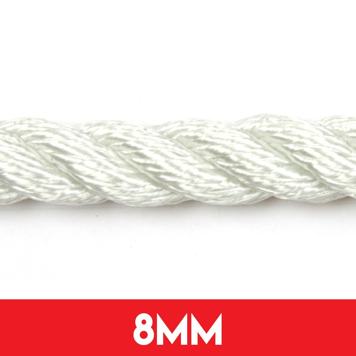8mm 3 Strand Nylon Anchor Rope