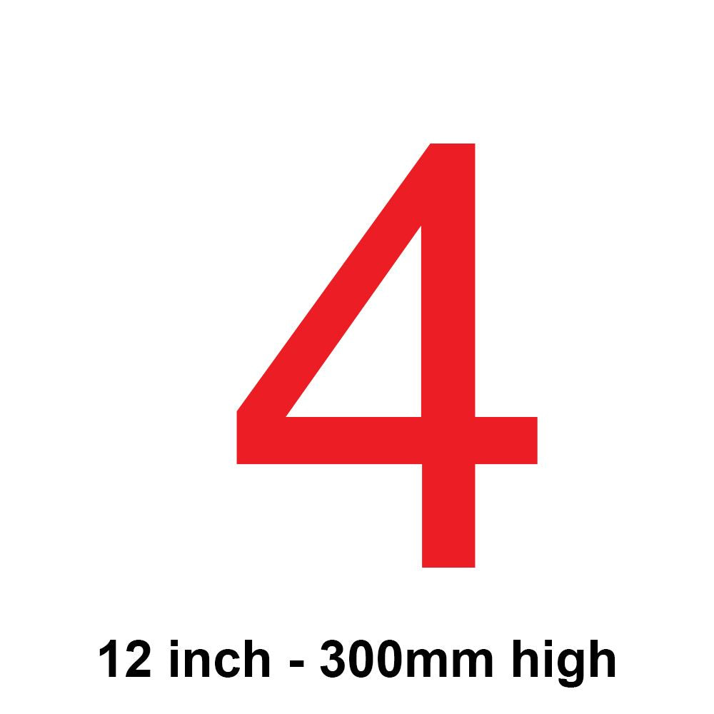 4 - Red 300mm Sail Number