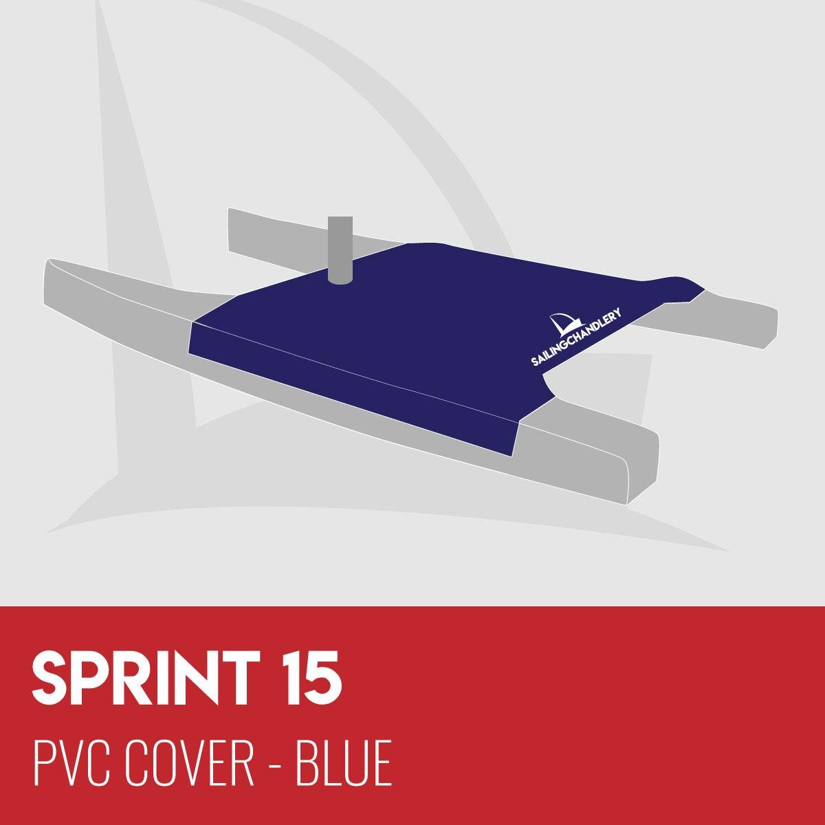 Sprint 15 Trampoline Cover - PVC Blue