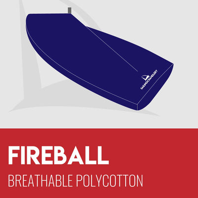 Fireball Boat Cover - Boom Up - Breathable Polycotton