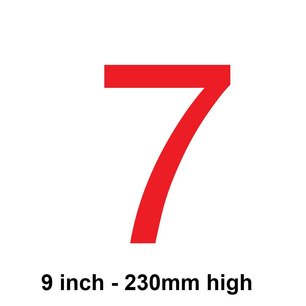 7 - Red 230mm Sail Number