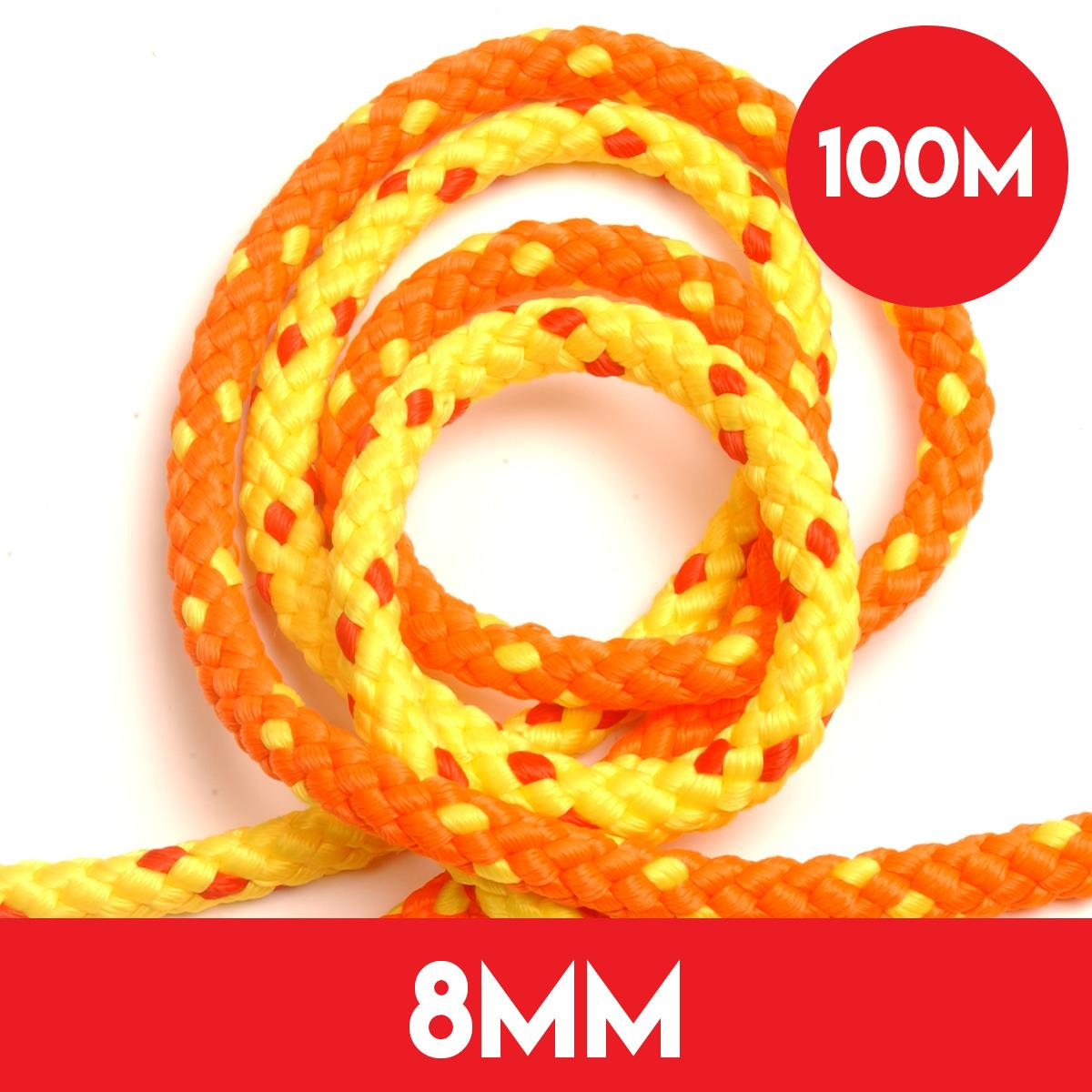 100m of 8mm Floatline Tow Rope