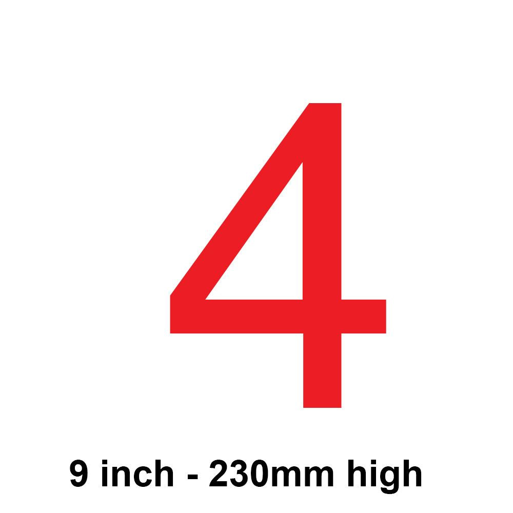 4 - Red 230mm Sail Number