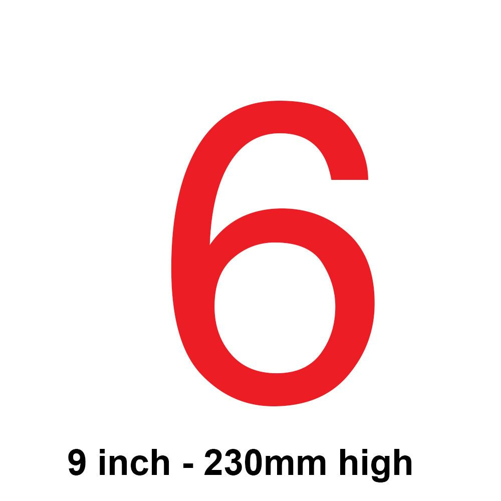 6 - Red 230mm Sail Number