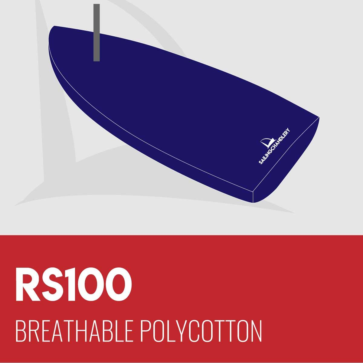 RS100 Boat Cover - Boom Up - Breathable Polycotton