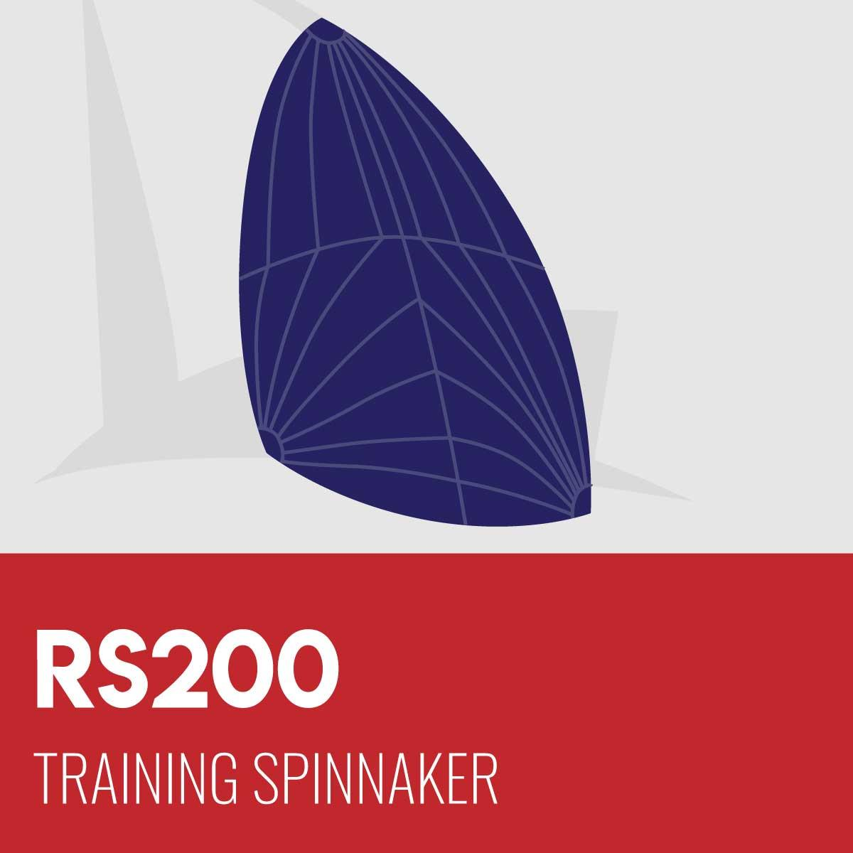 RS200 Training Spinnaker