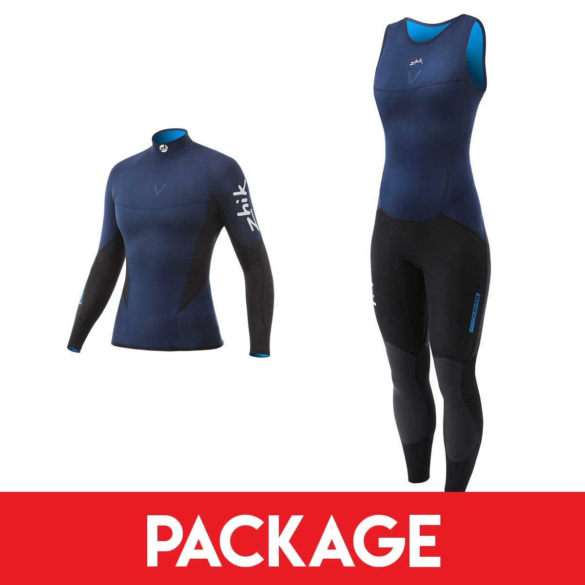 Womens Zhik Microfleece V Sailing Wetsuit Package