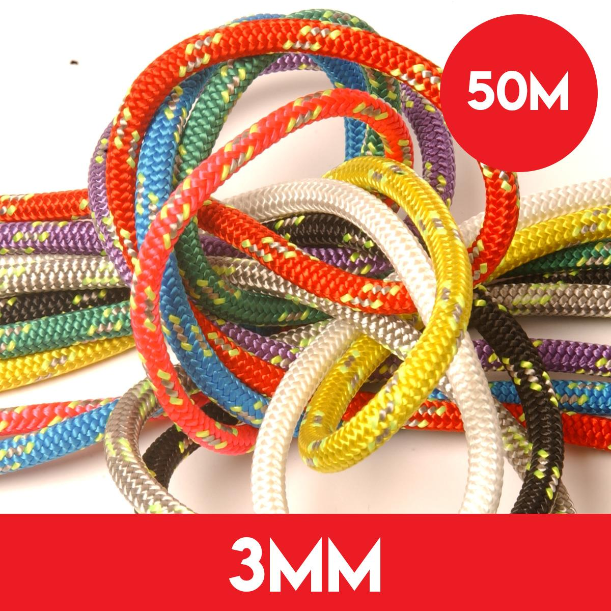 50m Reel of 3mm Kingfisher Evolution Race Rope