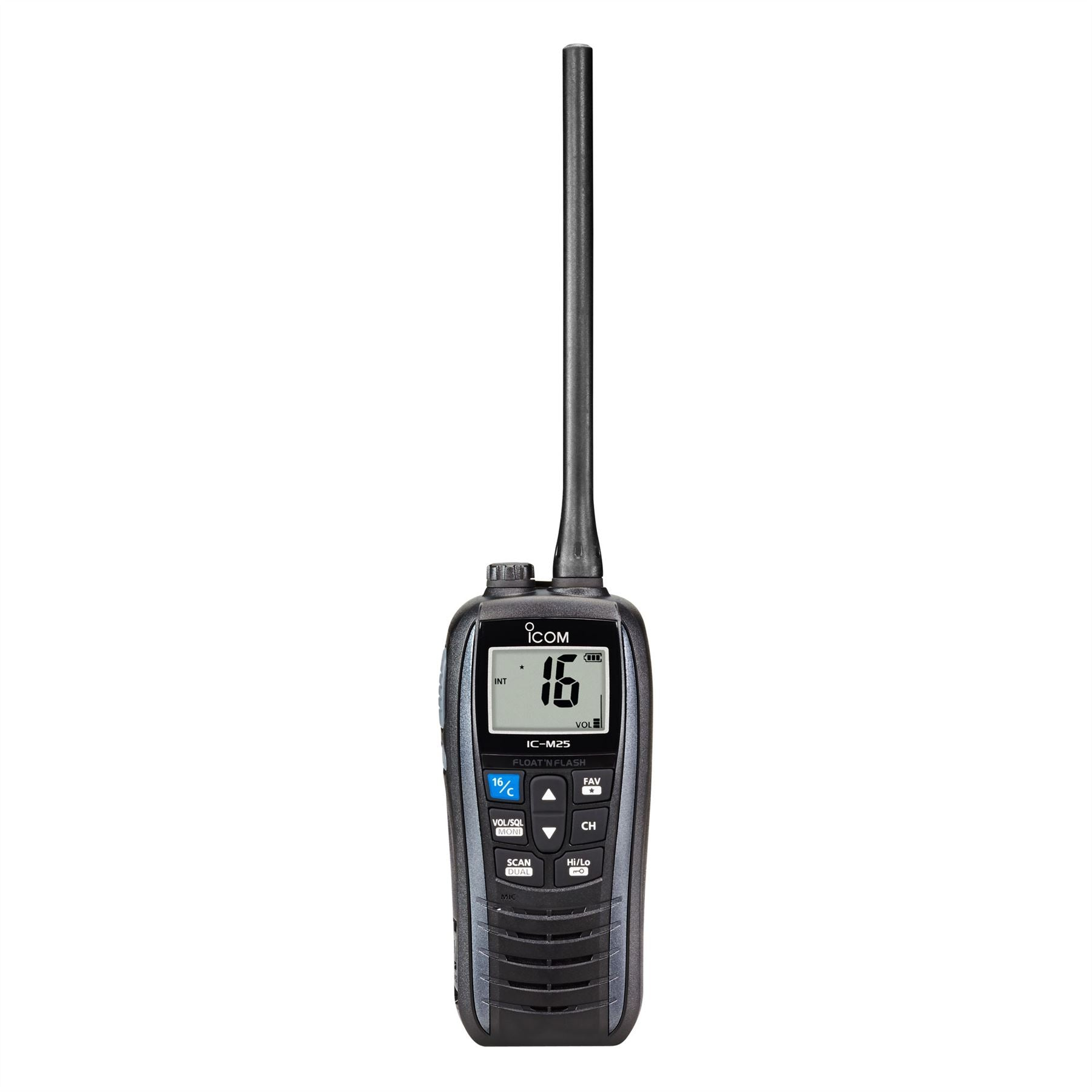 iCom IC-M25 Buoyant Handheld Marine VHF Radio - Metalic Grey